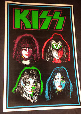 Kiss: solo faces black light poster 1992 (funky)