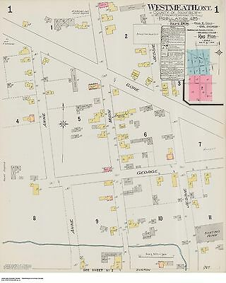 WESTMEATH ONTARIO ( Renfrew County ) TWO  Street & Building Maps 1908