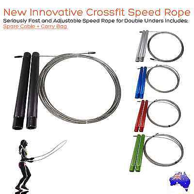 New Crossfit Speed Rope Master Double Unders - Cross Fitness, Boxing, MMA, HIIT