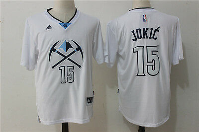 New Denver Nuggets #15 Nikola Jokic Swingman Basketball Jersey White