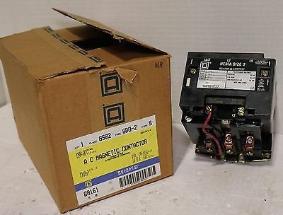 Brand New Square D 8502-SD0-2 Contactor *with 120 Volt Coil In Original Box