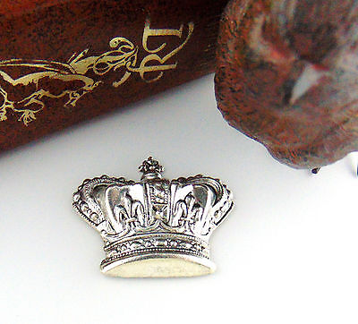 ANTIQUE SILVER Royal CROWN Stamping ~ Jewelry Finding (C-1101) *