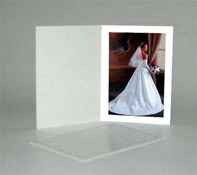Cardboard Photo Folder For A 4x6 Photo - White Stock - Pack Of 100