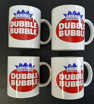 Dubble Bubble Coffee Mugs 4/Set