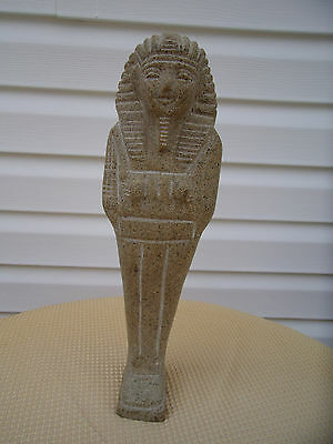 "14"" King Tut Statue Concrete"