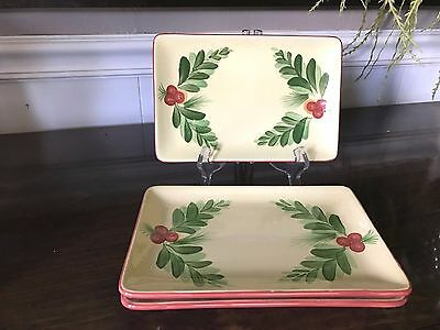 "3 - SLAH Gail Pittman ""Christmas Memories"" Appetizer Plates"