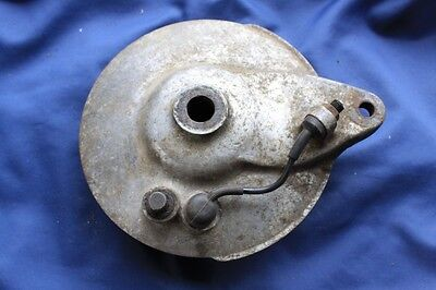 Yamaha XS650 rear drum brake plate & shoes