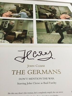 John Cleese Don't Mention The War THE GERMANS  Signed Limited edition
