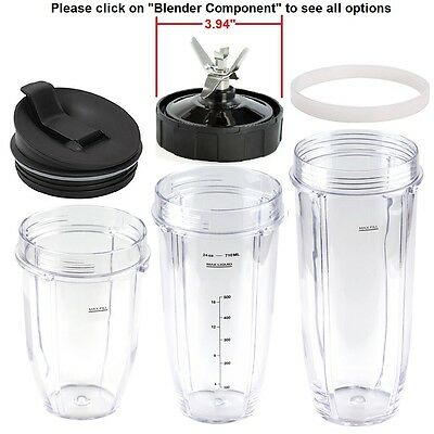 Replacement Parts,Fits Nutri Ninja Auto IQ Blenders,Blade,Cup,Jar,Flip Top Lid..