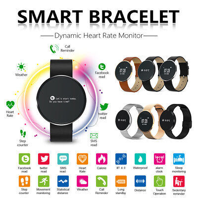 Bluetooth Smart Watch Heart Rate Blood Pressure Camera Fitness Activity Tracker