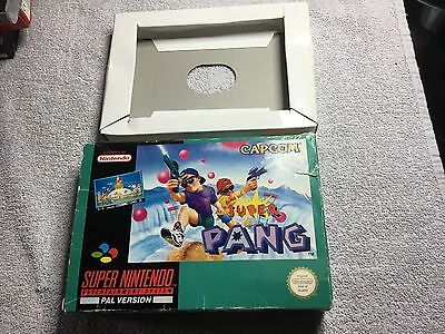 Genuine Super Pang *Empty* Box & Inner Tray For The Super Nintendo SNES PAL UK
