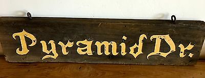 Lake Arrowhead Woods Antique Wooden Sign