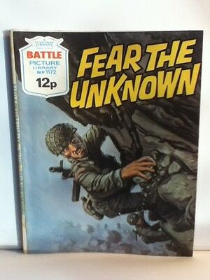 Battle Picture Library War Comic 'Fear The Unknown' (Issue 1172)