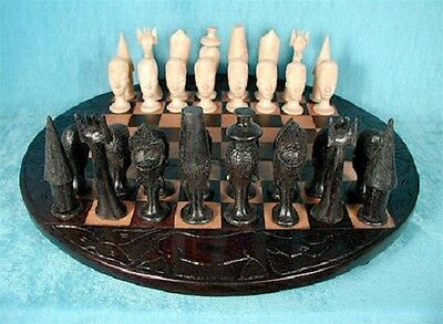 Supreme Collector Luxury African Ebony Chess Set Exclusive Rare Masterpiece