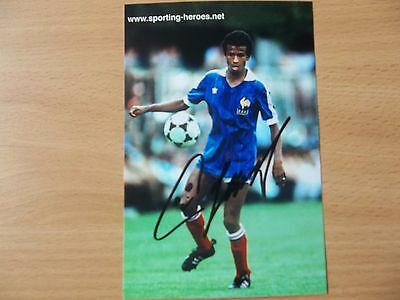 Jean Tigana, France Footballer, Signed 6 X 4 Photo