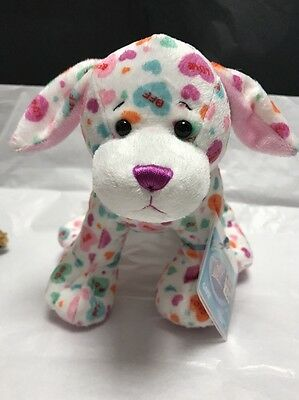 Webkinz Sweetheart Pup Plush New W/ Sealed Code Valentine Puppy -Hm691