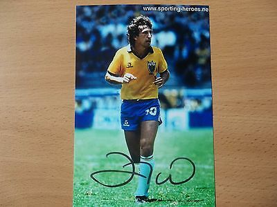 Zico, Brazil Footballer, Signed 6 X 4 Photo