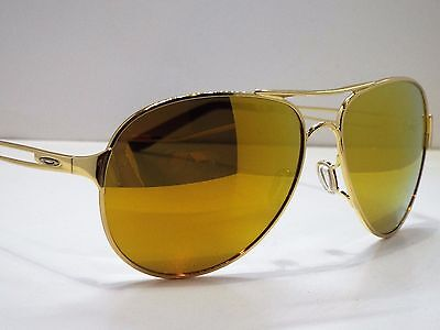 Authentic Oakley OO4054-18 Caveat Polished Gold 24K Iridium Sunglasses $215