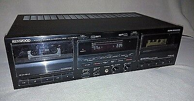 Kenwood KX-W8040 Stereo Double Cassette Deck Dual Vintage Tape Player Recorder