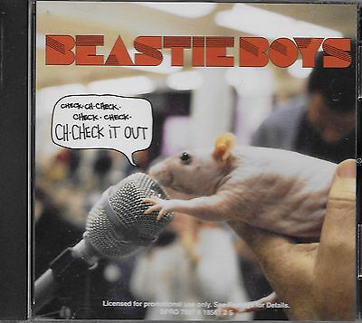 BEASTIE BOYS  Ch-Check It Out  2 versions  promo CD single with PicCover