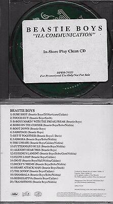 BEASTIE BOYS  Ill Communication  promo full length CD with TitleCover