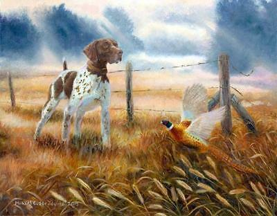 """Last Point of the Day"" A Limited Edition German Shorthaired Pointer Print"