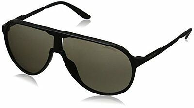 Carrera New Champion Aviator Sunglasses, Matte Black & Brown Gray, 62 mm