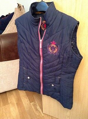 Ladies Just Togs Blue Gilet Size 12