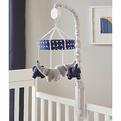 Happy Chic Baby by Jonathan Adler Taylor Musical Mobile - Blue -Elephant
