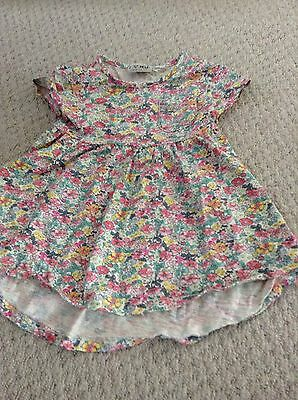 Girls Next shortsleeve floral design tunic top  age 12-18 Months