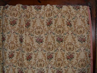 Vintage French Pair Tapestry Curtains.floral Medalions.