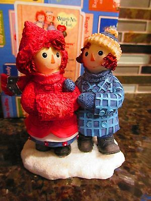 NEW Raggedy Ann & Andy Walking Figurine Enesco #709050 To Have a Friend Be Happy