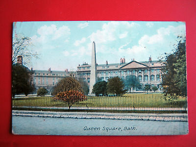 Old  Postcard- Queens Square,bath-Posted1907