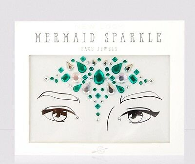 Mermaid Sparkle Festival Queen Green Mermaid Face Jewels