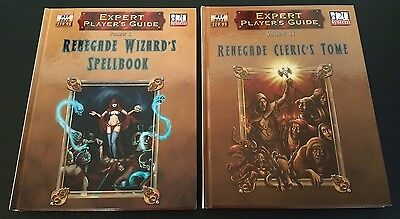 D&D 3.5 Expert Player Guide RENEGADE CLERIC'S TOME + WIZARD'S SPELLBOOK Lot NEW!
