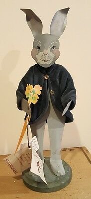 Vintage Shadowdancer Metal Folk Art Petter Rabbit. RARE
