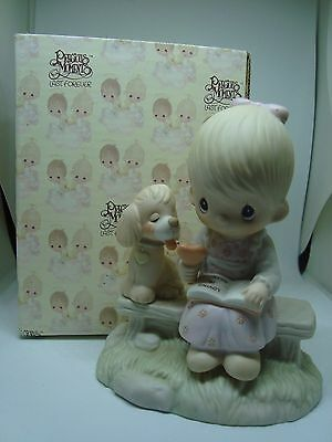 """PRECIOUS MOMENTS Figurine """"LOVING IS SHARING"""" A Must See!"""
