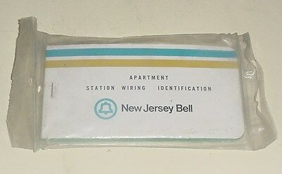Vintage New Jersey Bell Systems, Apartment Station Wiring Identification Booklet