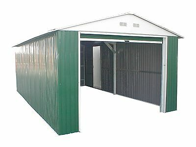 Duramax 6' Metal Storage Shed Extension - Green with White Trim (54961)