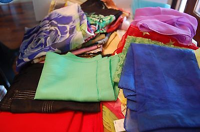 Huge Lot 45+ Vintage Ladies Scarves Many Colors And Materials