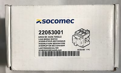 SOCOMEC 22053001 SIRCO M1 3x20A TOGGLE Load Break Switch