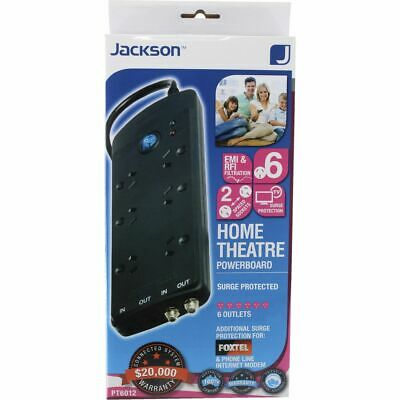 Jackson 6 Outlet Phone Line and TV Powerboard