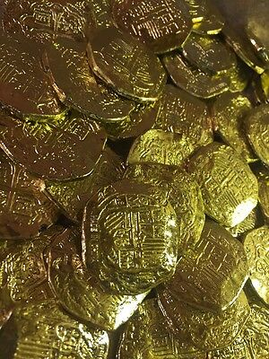 45 Toy Plastic Fake Gold Pirate Coins
