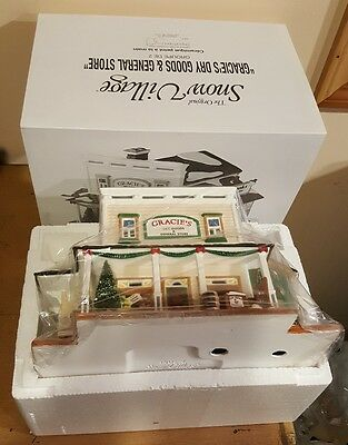 Department 56  Snow Village® Gracie's Dry Goods and General Store NIB