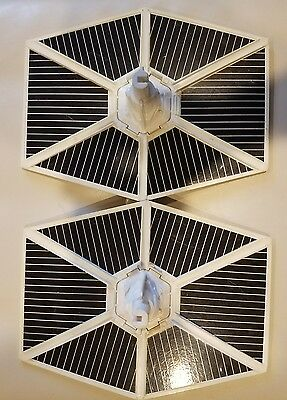 Vintage tie fighter wings with connectors