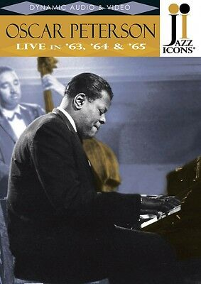 Oscar Peterson Live in '63 '64 & '65 Jazz Icons DVD Live DVD NEW 000320815