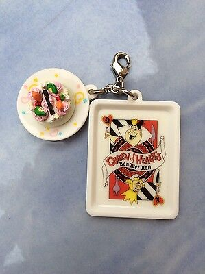 Disney Queen of Heart from Alice in Wonderland and Cake Pendant. Rare Collection