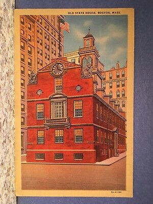 Postcard Colorful View Of The State House, Boston, Massachusetts