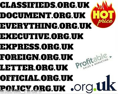 Portfolio of 9  Top-Level Premium Words '.org.uk