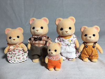 Calico Critters/sylvanian Families Bear Family  Of 5